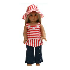 3PC Doll Clothes outfit suit for 18'' american girl K7C