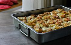 9 (egész) olcsó egytálétel, amiben a főszereplő a KRUMPLI | Nosalty Paella, My Recipes, Cauliflower, Macaroni And Cheese, Potato Salad, Bacon, Food And Drink, Pork, Potatoes