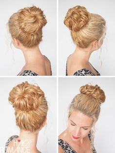 How to make your bun stand out. Check out Hair Romance's 30 Days of Curly Hairstyles ebook at http://www.hairromance.com/shop to learn how to master your curls every day with ease.