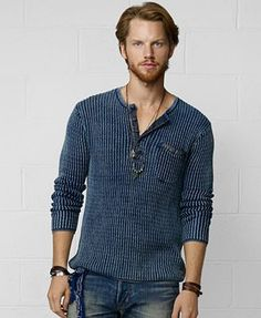 f55878a94a5ec Denim   Supply Ralph Lauren Henley Shirt in Blue for Men (Indigo)