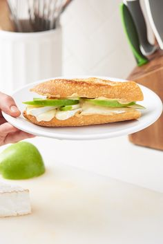 Apple, Brie, and Dijon Baguette Sandwich — The 6-Minute Lunch #recipes #food #kitchen