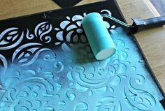 #DIY painted pillow case.