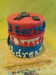 Cake It From Me: 3 barrels 2 hearts 1 dream - Barrel racing cake