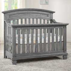 Oxford Baby Richmond 4-in-1 Convertible Crib - Brushed Grey