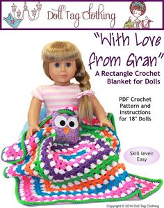 FREE Crochet pattern for your doll - Easy to do so great to use to teach a beginner. (from Doll Play SA and Doll Tag Clothing)