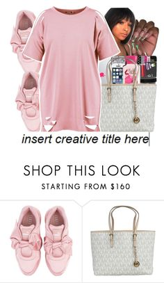 """Untitled #274"" by ittybittyjay ❤ liked on Polyvore featuring Puma, Michael Kors and Boohoo"
