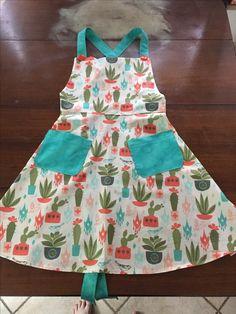 Cactus apron, southwest theme apron