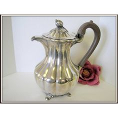 Silverplate Rogers Teapot 1881 Canada Teapot Vintage Elegant Display... ($41) ❤ liked on Polyvore featuring home and kitchen & dining