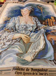 SEG De Paris Madame De Pompadour Tapestry Kit