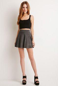 Minifalda Vuelo Textura | Forever 21 - 2000172519
