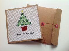 Handmade Kraft cardstock christmas by PinkiePromiseBargins on Etsy, $2.50
