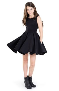 MISS BEHAVE 'Carrie' Skater Dress (Big Girls) available at #Nordstrom