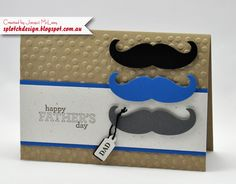Splotch Design - Jacquii McLeay - Stampin Up - Fathers Day Mustache Card