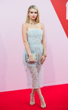 Lottie Moss in Ermanno Scervini at the Fashion for Relief event, #Cannes #2017