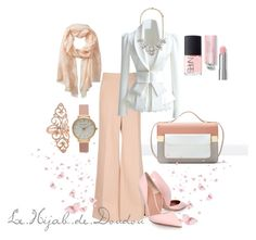 """""""Nude Hijab Outfit"""" by le-hijab-de-doudou ❤ liked on Polyvore featuring Zara, Forever 21, Kurt Geiger, NARS Cosmetics, Olivia Burton and Badgley Mischka"""