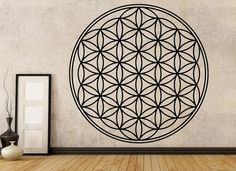 Flower Of Life Sticker  Wall Decal by ThePersonalizedGift on Etsy