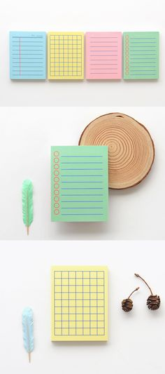 Colorful Mini Bold Notepad is simplistic yet cute and functional notepad! It's small, colorful and does any job well. The small portable size makes it easy to carry them with me for any occasion and purposes.