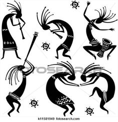 Dancing figures View Large Clip Art Graphic