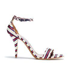 Poppy High Heel Stripe Sandal by Tabitha Simmons #shoeaholic