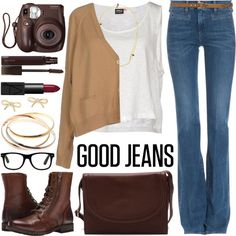 Lookin' Fine in Flared Jeans Outfit Idea 2017