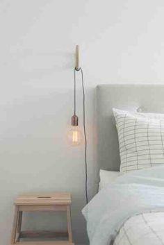 Favorite Things Friday Like Scandinavian Bedroom Copper Bedroom Home Bedroom, Bedroom Decor, Bedroom Ideas, Master Bedroom, Bedroom Lamps, Budget Bedroom, Bedroom Furniture, Furniture Ideas, Bed Lamps