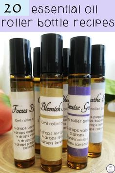 20 Essential Oil Roller Bottle Recipes Roller bottles are one of the easiest ways to use essential oils. They make topical application simple. This is a collection of 20 Essential Oil Roller Bottle Recipes that I always have pre-made and ready to go. Doterra Essential Oils, Essential Oil Diffuser, Essential Oil Blends, Homemade Essential Oils, Making Essential Oils, Valor Essential Oil Uses, Essential Oils Sore Muscles, Essential Oil Recipies, Essential Oils Uses Chart