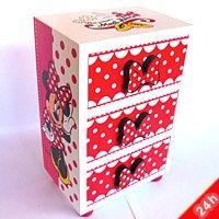 Minnie Mouse ékszertartó doboz - 3 fiókos