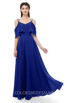 1332d8bd322c ColsBM Jamie Bridesmaid Dresses Floor Length Pleated V-neck Half Backless A -line
