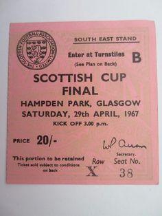1967 Scot Cup Final Celtic v Aberdeen (Match Ticket) | eBay