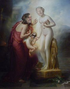 https://flic.kr/p/RJUXX4 | narcissus, pygmalion, galatea & echo | The great Roman poet Ovid, in his mega-masterpiece Metamorphoses, tells us of the Cyprian sculptor Pygmalion, who swore off women until he created a statue of one, Galatea, from ivory.  He so loved her that she came to life and married him out of gratitude and pity.  Ovid tells us also of Echo, a gabby nymph who was cursed by Hera so she could only finish other people's sentences, and never speak for herself.  Echo loved…