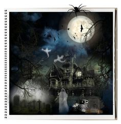 """Top Art Set October 18, 2015"" by cindycook10 ❤ liked on Polyvore featuring art, Halloween, artset and hauntedhouse"