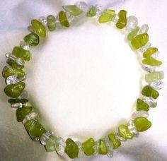 Bergkristall Jade Heilstein Armband