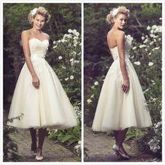 Short wedding gown shoulders Bridal wedding dress#Frenchie-W182