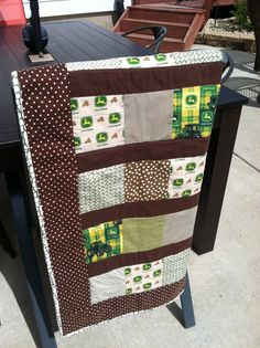 John Deere baby quilt by TickledPinkQuilts on Etsy, $50.00