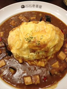 Mapo tofu curry omurice