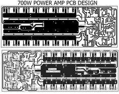 700W pcb power amplifier