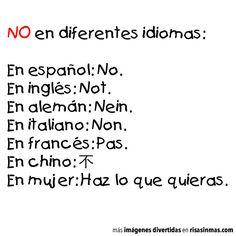 NO en diferentes idiomas