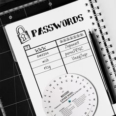 Use this Password Scrambler so you can write your passwords in your planner!