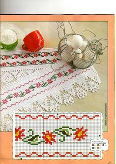 "Photo from album ""Punto Cruz"" on Yandex. 123 Cross Stitch, Cross Stitch Bookmarks, Beaded Cross Stitch, Cross Stitch Borders, Cross Stitch Flowers, Cross Stitch Designs, Cross Stitching, Cross Stitch Embroidery, Hand Embroidery"