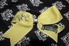 Check out this item in my Etsy shop https://www.etsy.com/listing/220144973/2-in-yellow-grosgrain-ribbon-trimmed-in