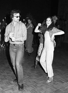 Bill Murray dancing with Gilda Radner at Studio 54 in 1978.