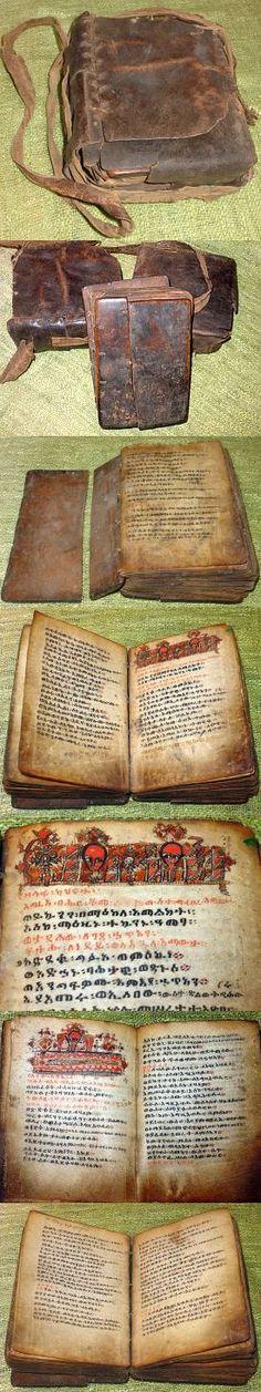 Antique Ethiopian Coptic Christian Manuscript Bible - Marwick Codex #54 Wild Book, Writers Help, Leather Bound Books, Book Of Hours, Abyssinian, Prayer Book, Inspirational Books, Handmade Books, Ex Libris