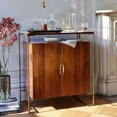 I die for this Baron Deco Bar Cabinet - Espresso | West Elm