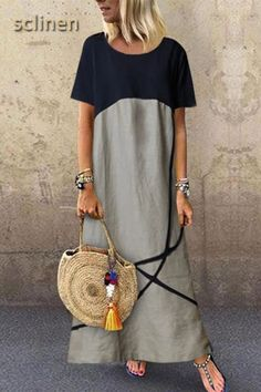 Fashion Tips Casual Cotton And Linen Maxi Dress.Fashion Tips Casual Cotton And Linen Maxi Dress Maxi Outfits, Boho Outfits, Vacation Outfits, Casual Outfits, Casual Summer Dresses, Dress Summer, Dress Casual, Boho Dress, Summer Outfits