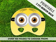 10 Best Minion Mask Images Minion Mask Minion Birthday Kids Part