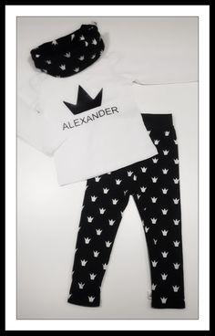 *black & white skinny legging and T-shirt * more info @ babyJsparkles!