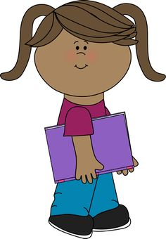 Girl with a school book from MyCuteGraphics