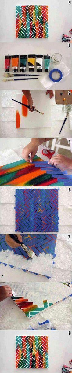 Tableau colorée très beau