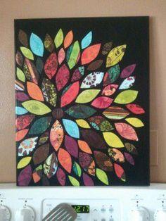Canvas and scrapbook paper wall art