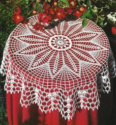 ru / φωτογραφία # 14 - Diana № 64 Hakel-Ideen - Maria-Nikolaevna Crochet Tablecloth Pattern, Crochet Doily Rug, Crochet Placemats, Crochet Bedspread, Crochet Doily Patterns, Crochet Stitches, Crochet Hooks, Mantel Redondo A Crochet, Border Embroidery Designs